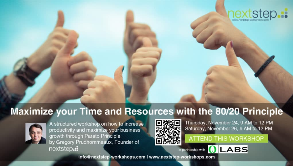 Maximize your Time and Resources with the 80/20 Principle by NextStep Workshops