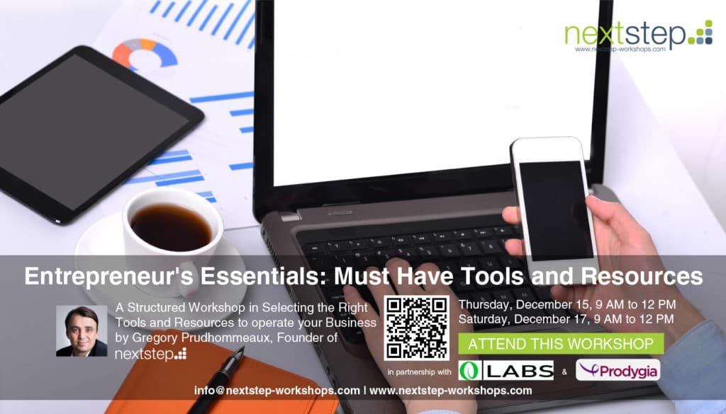 Entrepreneur's Essentials: Must Have Tools and Resources by NextStep
