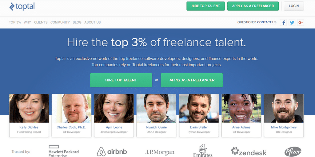 Freelancer Website - Toptal