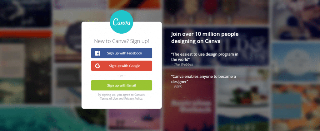 graphic design tools online Canva