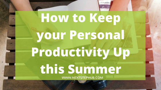 personal productivity summer