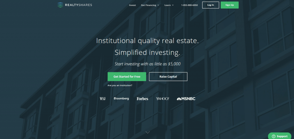 crowdfunding websites RealtyShares