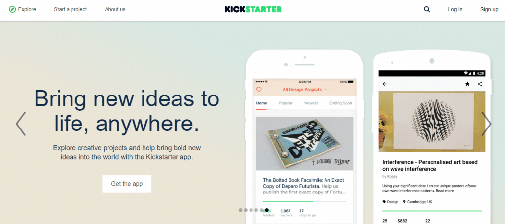 crowdfunding websites Kickstarter