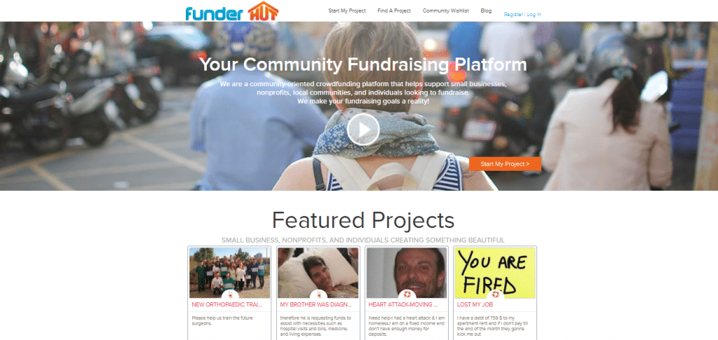 crowdfunding websites FunderHut