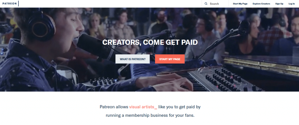 crowdfunding websites Patreon