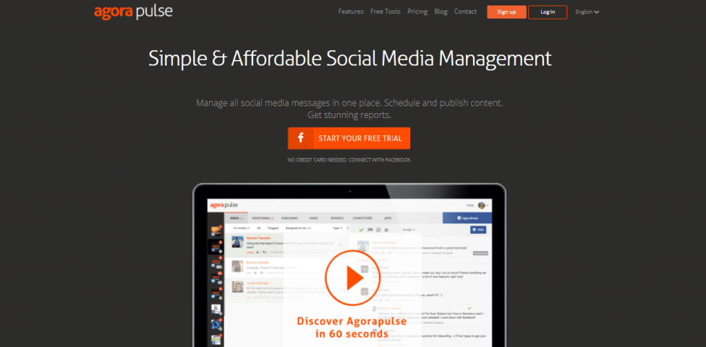 social media management software Agorapulse
