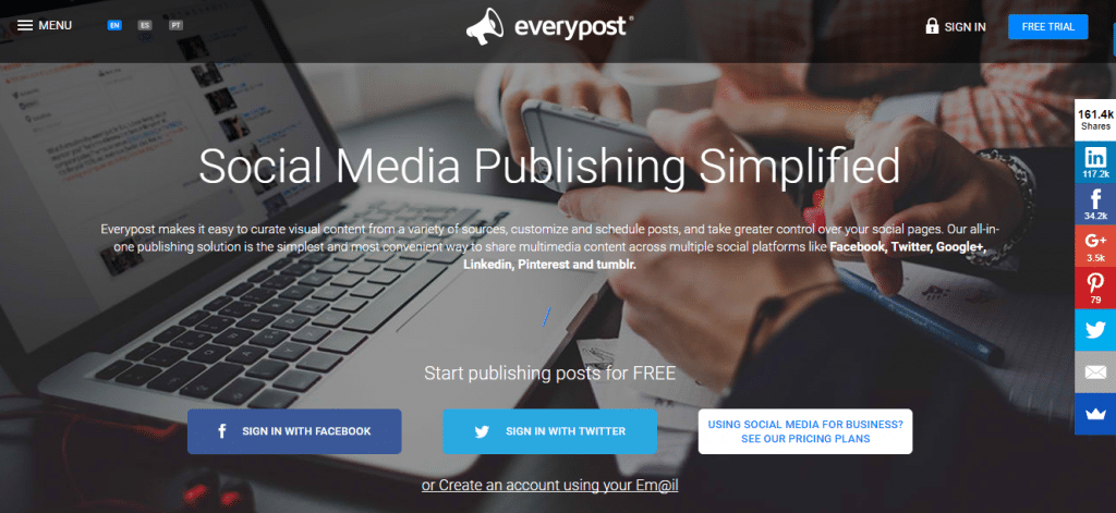 social media management software Everypost