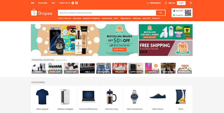 philippines best ecommerce platforms Shopee