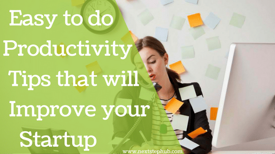 productivity tips startup