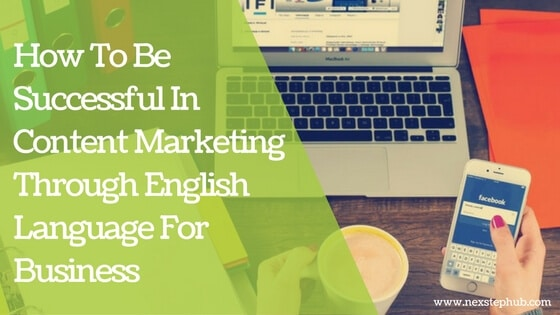 English language for business content marketing