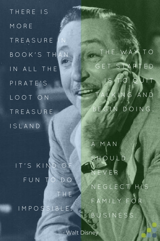 Walt Disney business quotes